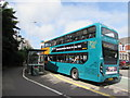 ST2077 : Cardiff Bus double-decker at a Newport Road bus stop, Cardiff by Jaggery