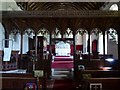 SO6777 : Rood screen, Neen Savage church by Philip Halling