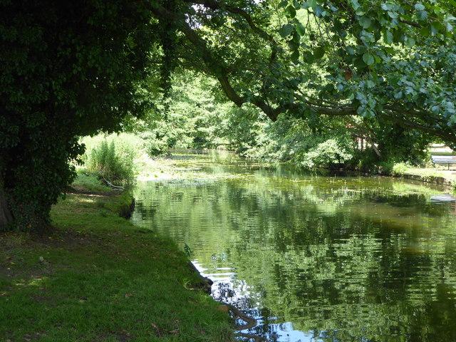 The River Brett at Hadleigh