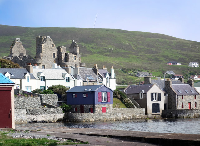 Buildings in Scalloway
