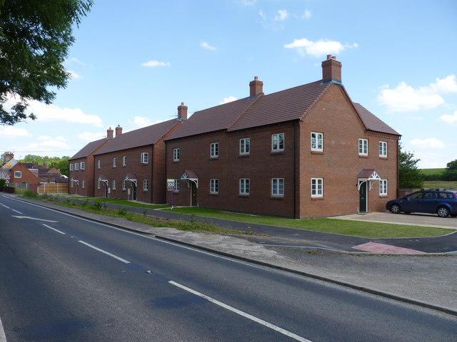 New houses on the Salt Way, Hanbury