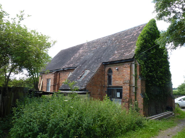 Back of Chapel-of-Ease, Woolmere Green, Hanbury