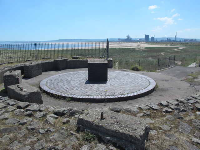 Old gun emplacement on the South Gare breakwater