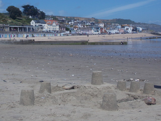 Lyme Regis: a sandcastle in progress