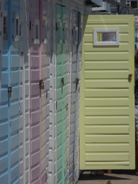 Lyme Regis: a yellow door is open