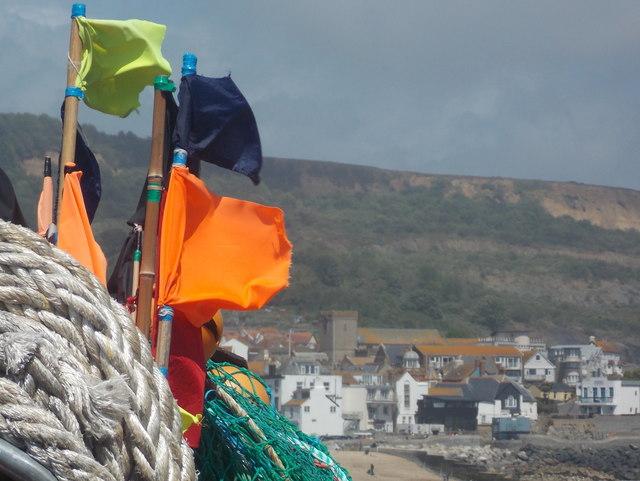 Lyme Regis: fishing stuff at The Cobb