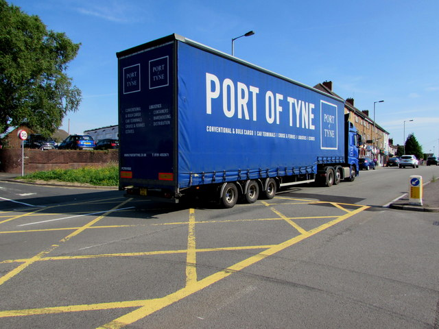 Port of Tyne lorry in Malpas, Newport