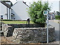 SH3485 : Llanddeusant water pump by John S Turner