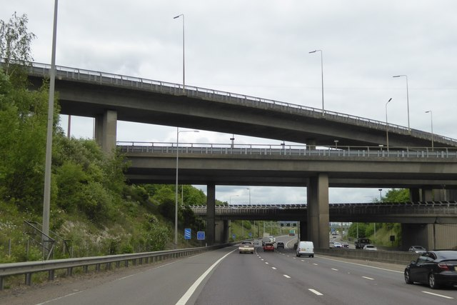 Motorway bridges at M25 junction 21