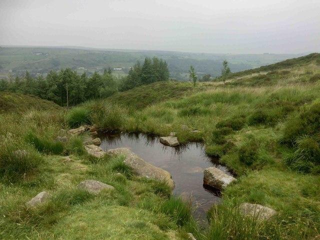 Moorland pond above Marsden