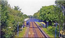 TQ1070 : Kempton Park Racecourse station, 2005 by Ben Brooksbank