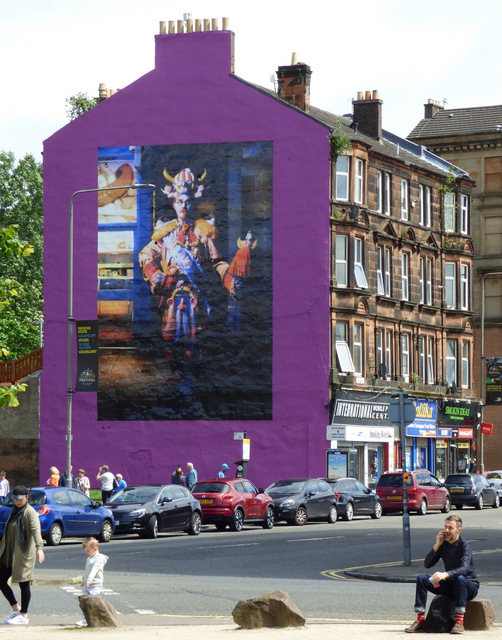 Billy Connolly mural on the Gallowgate © Thomas Nugent ...