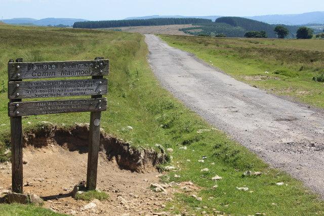 Sign for Manmoel Common