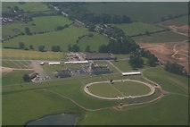 SP7047 : Towcester Racecourse and Greyhound Track: aerial 2017 by Chris