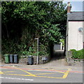 ST2281 : Wheelie bins at the edge of Llandaff Square, Old St Mellons, Cardiff by Jaggery