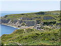 SY6970 : Portland, Disused Quarries Above Freshwater Bay by David Dixon
