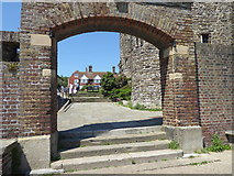 TQ9220 : View through the archway at Ypres Tower, Rye by Marathon