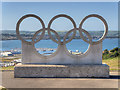 SY6873 : The Olympic Rings Sculpture, Portland by David Dixon