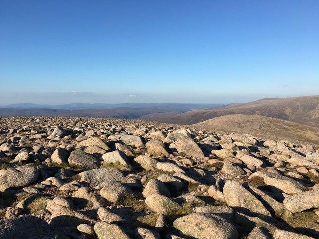 View north east from Beinn a' Chaorainn
