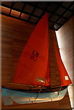 HU4741 : Sailing dinghy in the Shetland Museum, Lerwick by Mike Pennington