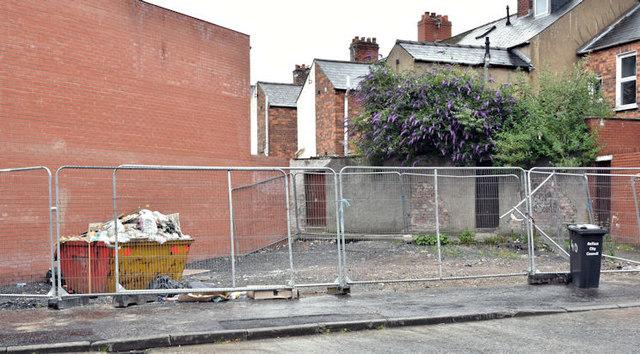 Vacant site, 36 Ravenhill Street, Belfast (June 2017)