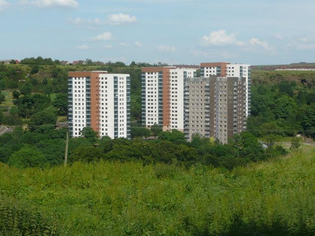 Tower blocks off Mixenden Road, Mixenden