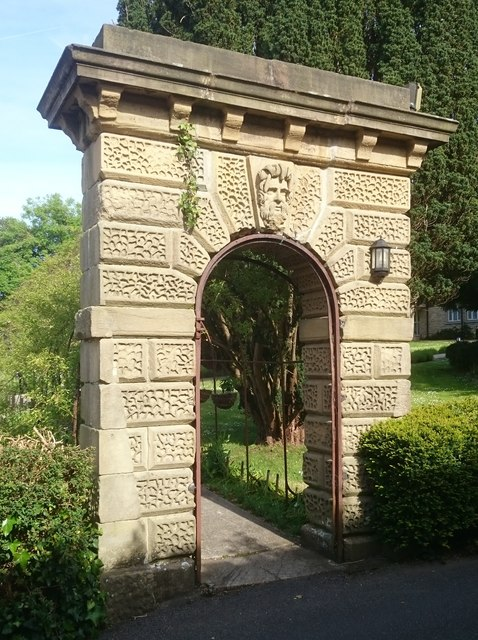 Stone arch in garden of Purbeck House