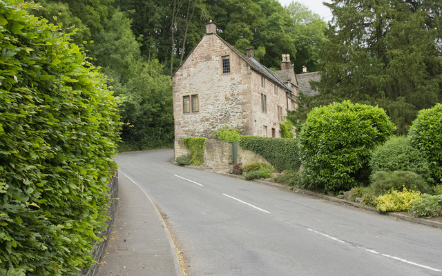 Cottages along the road