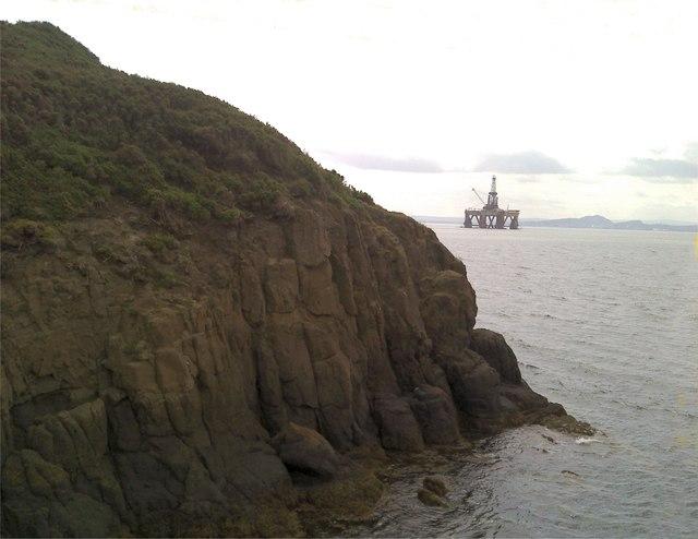 Oil rig moored off Burntisland