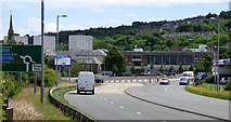 NS3174 : The A8 dual carriageway at Port Glasgow by Thomas Nugent