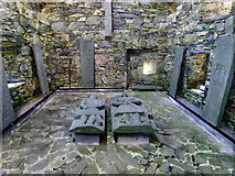 NR3488 : Tombstones at Oronsay Priory by Julian Paren