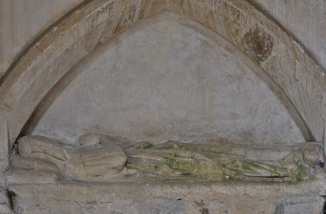 Great Tew, St. Michael and All Angels Church: Effigy (c1320) possibly Margery Dyve, Abbess of Godstow