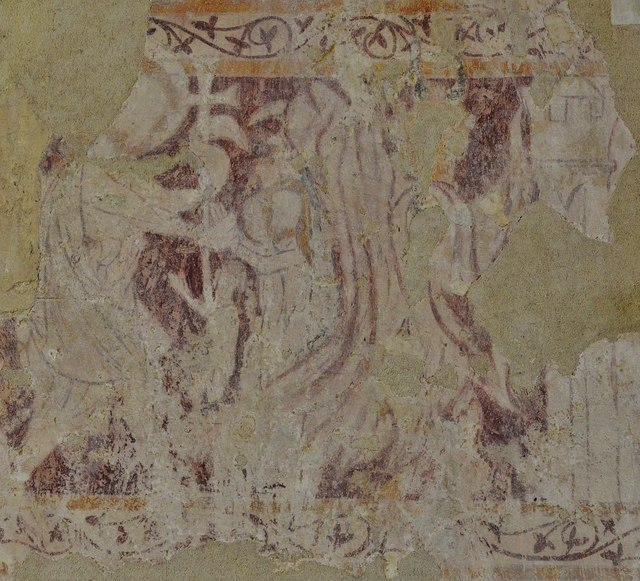 Great Tew, St. Michael and All Angels Church: c14th wall painting 2