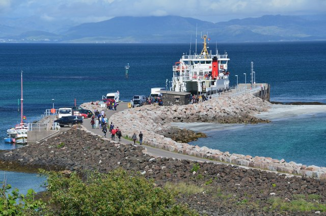 Catching the ferry, Eigg