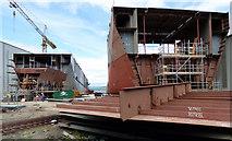 NS3274 : Hulls 801 and 802 at Ferguson Marine shipyard by Thomas Nugent