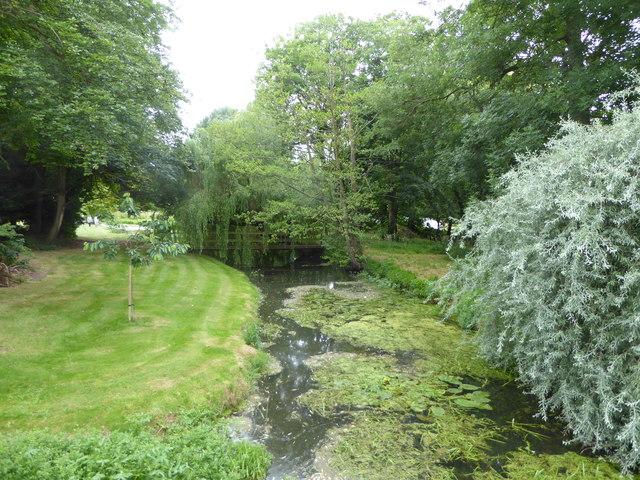 The River Brett from Chelsworth Bridge