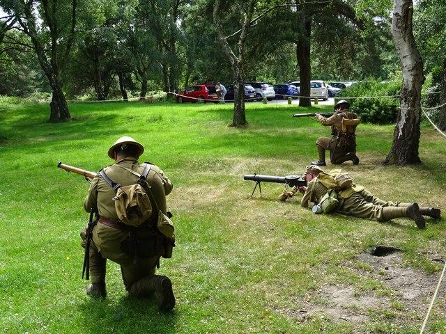 Re-enacting Great War Training