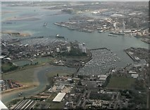 SZ6299 : Gosport east to Portsmouth Harbour: aerial 2017 by Chris