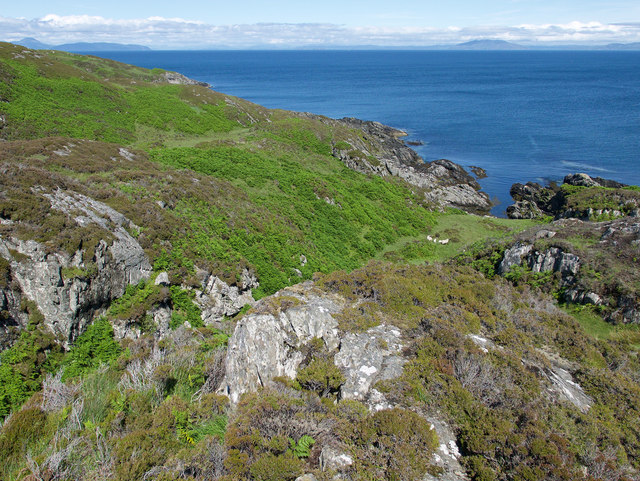 Rugged terrain beside the east coast of Colonsay