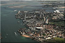 SZ6299 : Portsmouth Harbour and Spinnaker Tower: aerial 2017 by Chris