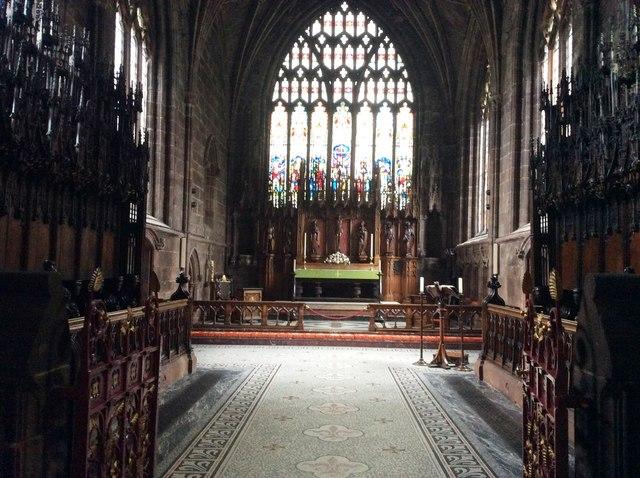 The Altar, St Mary's Church, Nantwich