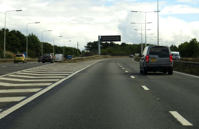 The M54 heading east