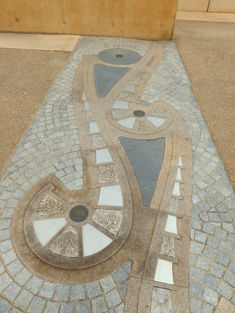 300 metre marker on Redcar seafront
