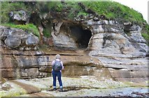 NM4788 : Coastal cave, Cleadale by Jim Barton
