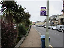 SS5147 : Wilder Road land train stop, Ilfracombe by Jaggery