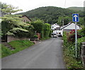 SO2813 : One-way sign, Kiln Road, Llanfoist by Jaggery