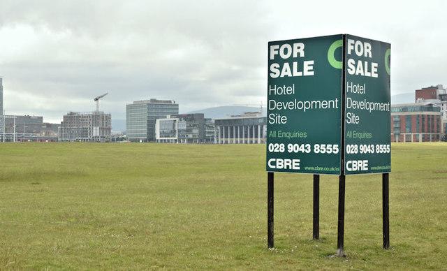 Proposed Hamilton Dock hotel site, Belfast (June 2017)