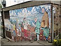 SJ9398 : Ashton West End Mural by Gerald England