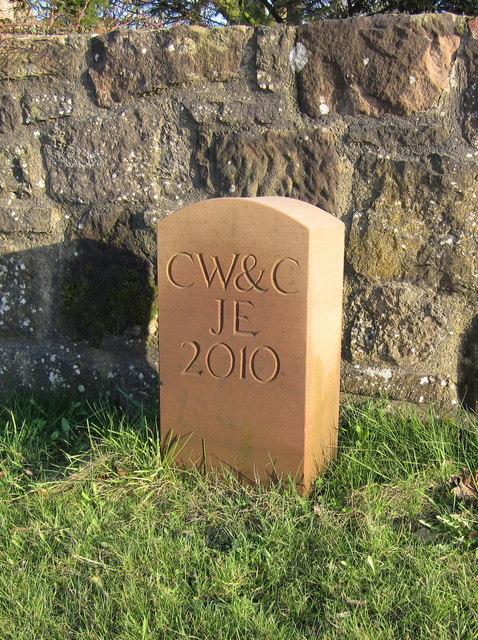 Boundary stone on Kinnerton Bridge
