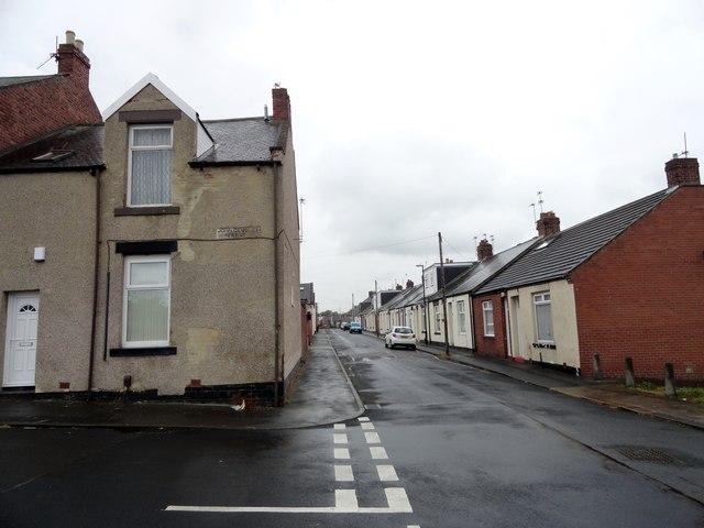 Suburban streets in Millfield, Sunderland